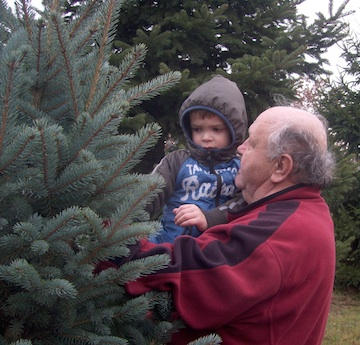 Poppa, those branches are prickery!