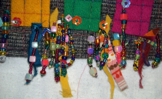Wool squares fringe 1