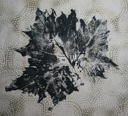 Black leaf print 1