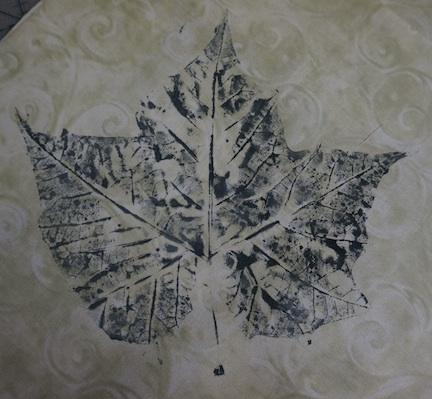 Black leaf print 2