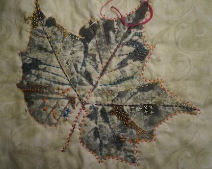 Stitching on a leaf 1