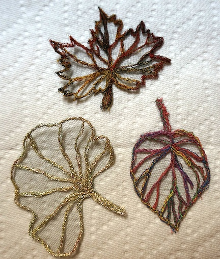 Thread lace leaves