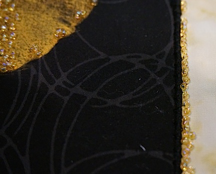 Black:gold gingko detail 2