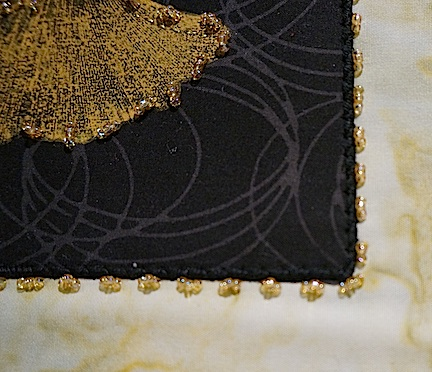 Black:gold gingko detail 3