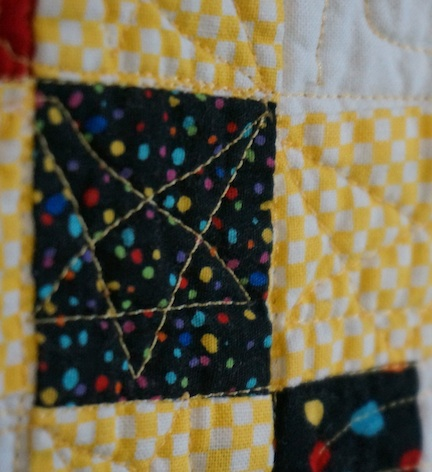 Baby quilt for B detail