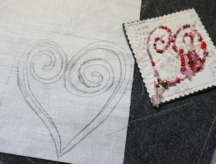 Beaded heart ideas 1