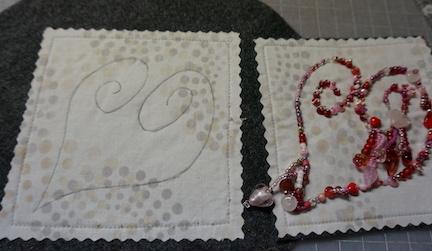 Beaded heart ideas 9