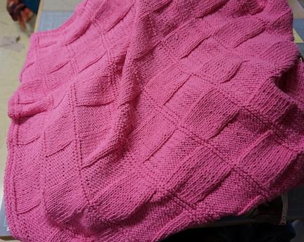 Hot pink knit