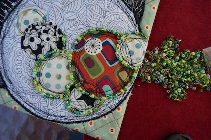 WS circles green beads