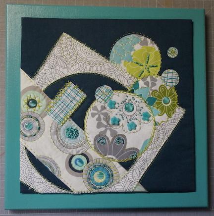 WS turquoise circles mounted
