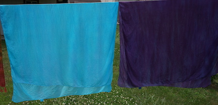 Dyed scarves large