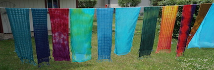Dyed scarves small