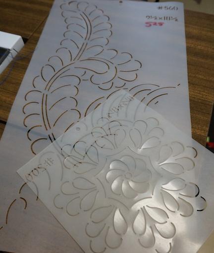 Handwork and stencils 1