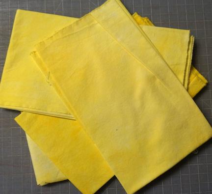 Shibori yellow stitch 1