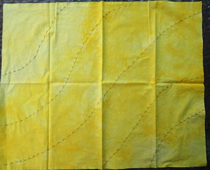 Shibori yellow stitch 3