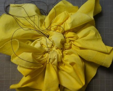 Shibori yellow stitch 4
