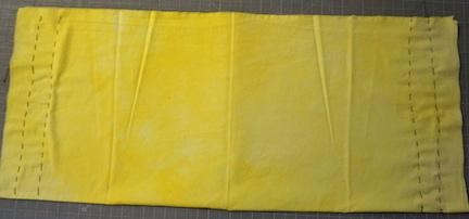 Shibori yellow stitch 5