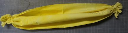 Shibori yellow stitch 6