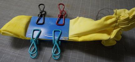 Shibori yellow stitch 7