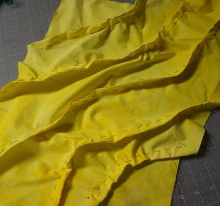 Shibori yellow stitch 8