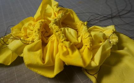 Shibori yellow stitch 9