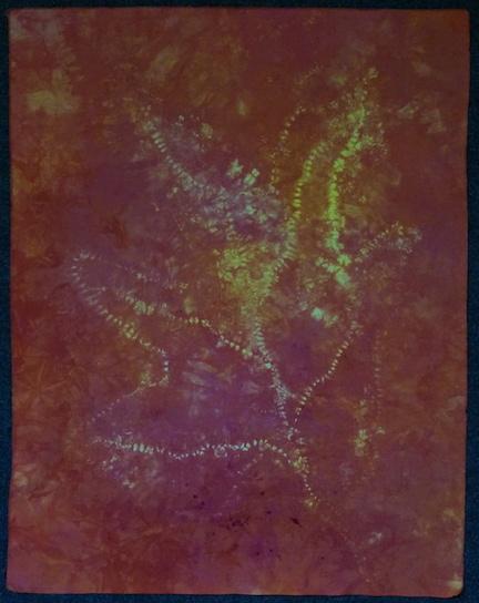 Stitched shibori dyed 5