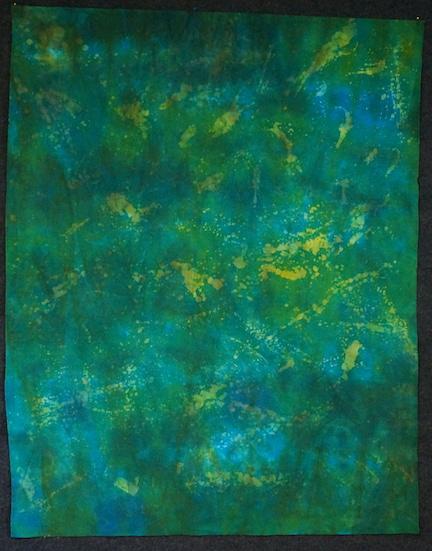 Wax splattered